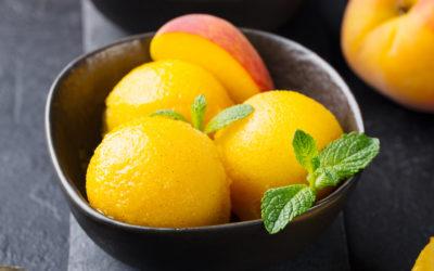 Fresh Peach Sherbet